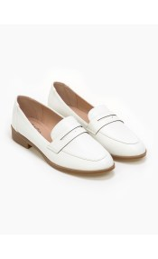 Basic loafers με άνετη σόλα - Λευκό