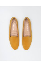 Basic suede loafers - Μουσταρδί