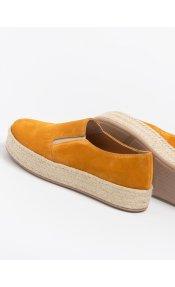 Estil δέρμα καστόρι loafers με σχοινί στη σόλα - Μουσταρδί