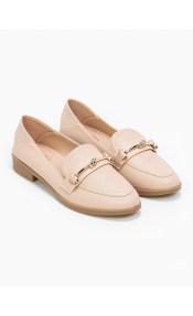 Loafers με σχέδιο κόμπο στην αγκράφα - Nude