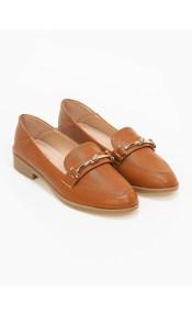 Loafers με σχέδιο κόμπο στην αγκράφα - Ταμπά