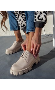 Oxfords με chunky σόλα - Μπεζ