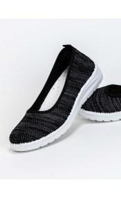 Slip on με μαλακή sneaker σόλα - Μαύρο