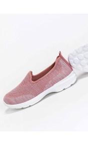 Υφασμάτινα slip on sneakers - Ροζ