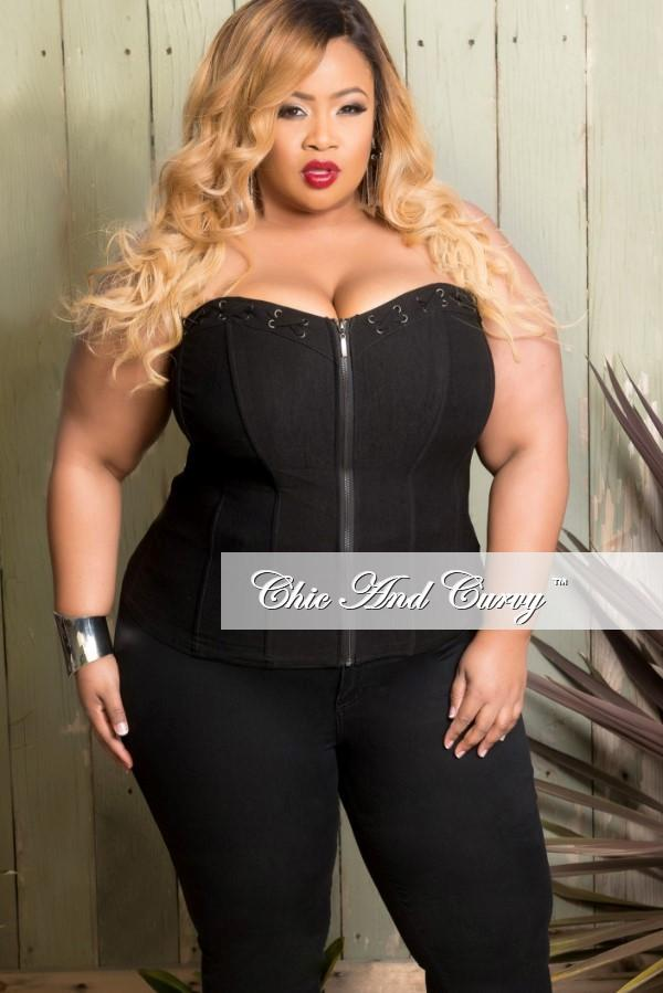 The bigger sized women and the plus size corsets