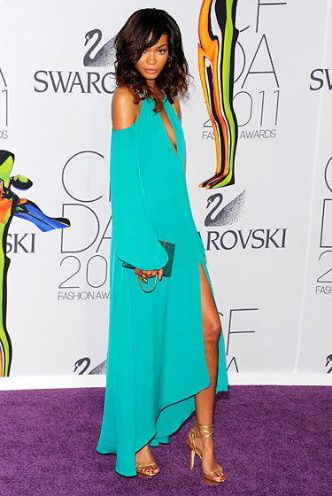 Chanel Iman at 2011 CFDA Awards
