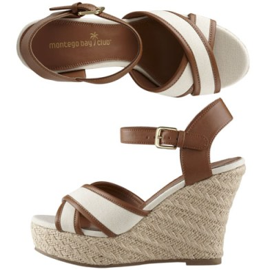 Preserver Canvas Espadrille High Wedge Payless Shoes