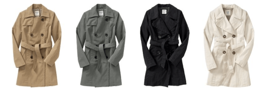 Old Navy Trench Coats