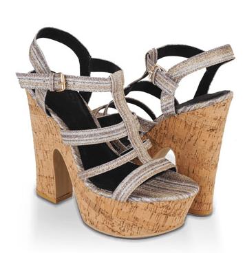 forever 21 glittered platform sandal