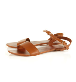 Topshop Houpla Leather Strip Sandal