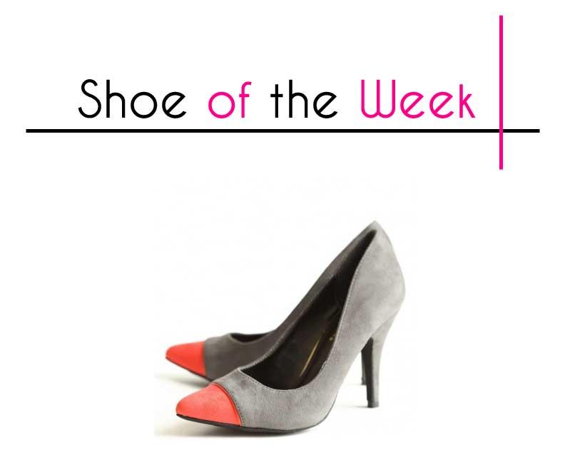 Shop Ruche Holiday Kisses Colorblocked Heels