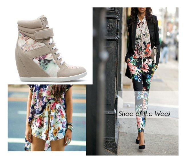 floral shoes, floral street style