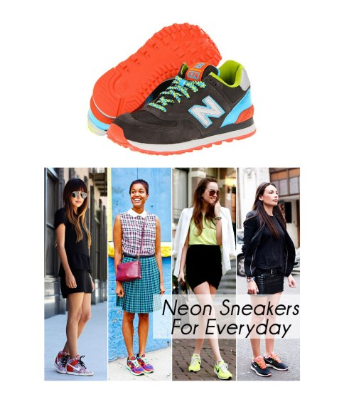 neon new balance sneakers