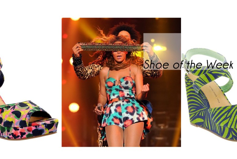gap, gap printed wedge sandals, beyonce, kenzo
