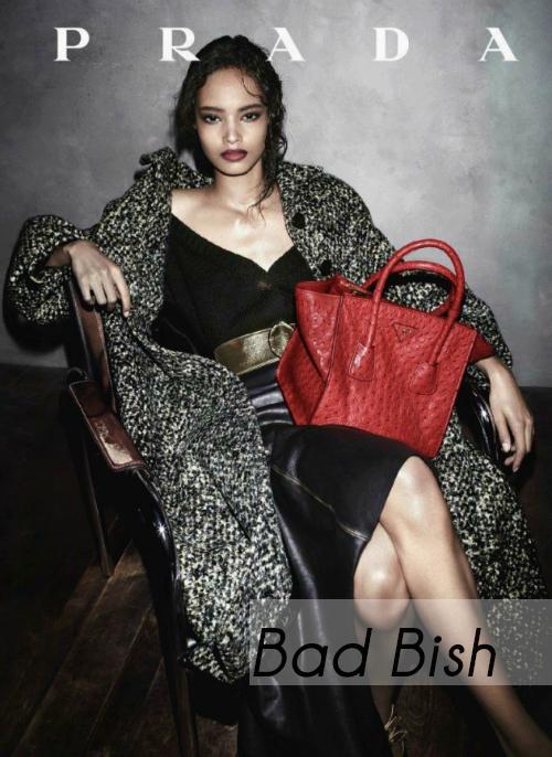 Malaika Firth Prada F/W 2013 Ad Campaign
