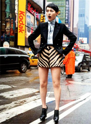 Rinko Kikuchi for Glamour US September 2013