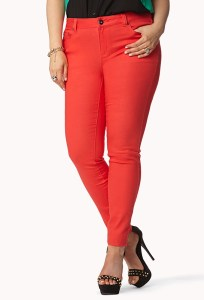 Figure 4 - Forever21 - Colored Stretchy Skinny Jeans $19.80