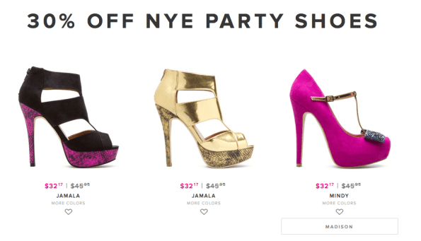 new years eve party shoes at shoedazzle