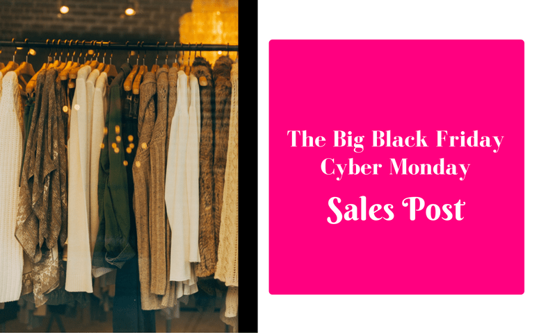The Big Black Friday/Cyber Monday Sales List is Back!!!
