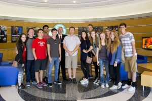 Gaining access to ABC Studio 7 was among many highlights for Feather staff, April 14.
