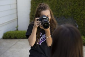 Something you do regularly on the Photojounalism team is take pictures of students for articles.