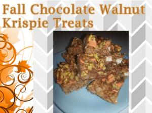 Fall Chocolate Walnut Krispie Treats