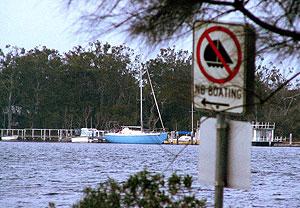 no boating