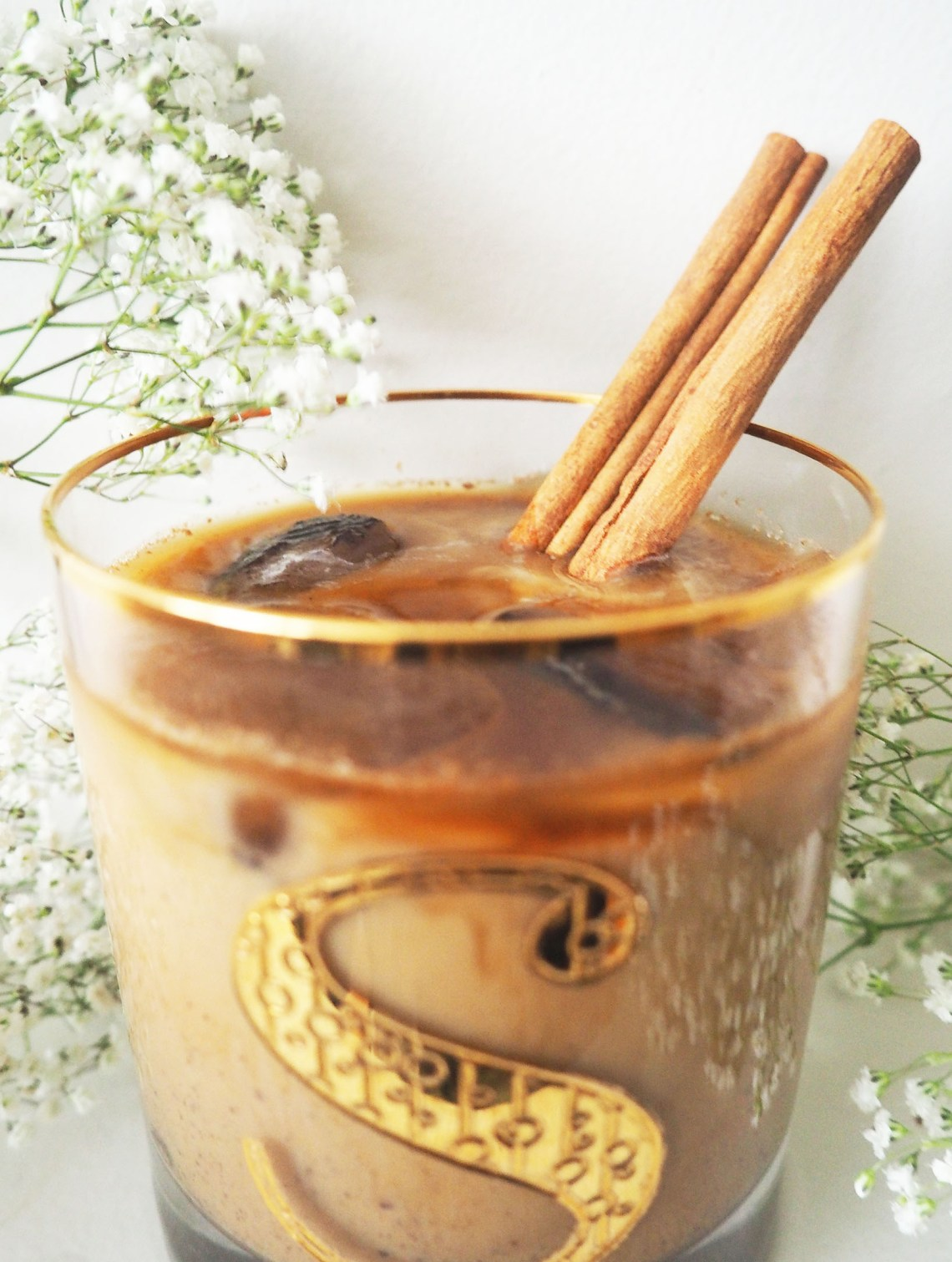 Cinnamon Iced Latte Sweetened With Honey