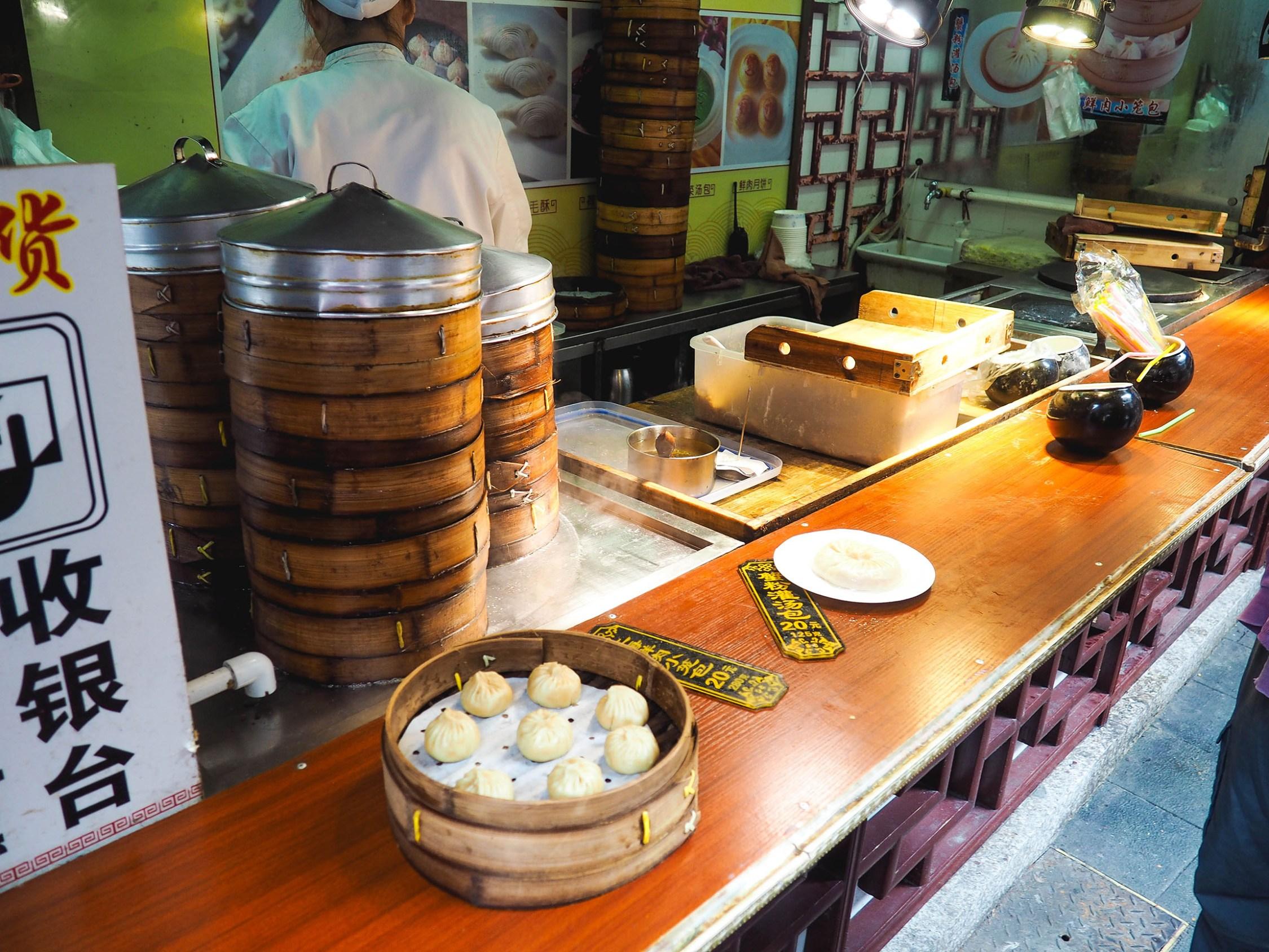 vegetarian street food in shanghai