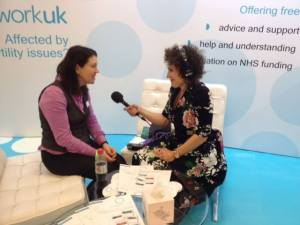 Anya Sizer chatting at The Fertility Show