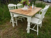 Antique Pine Table And Chairs | Antique Furniture