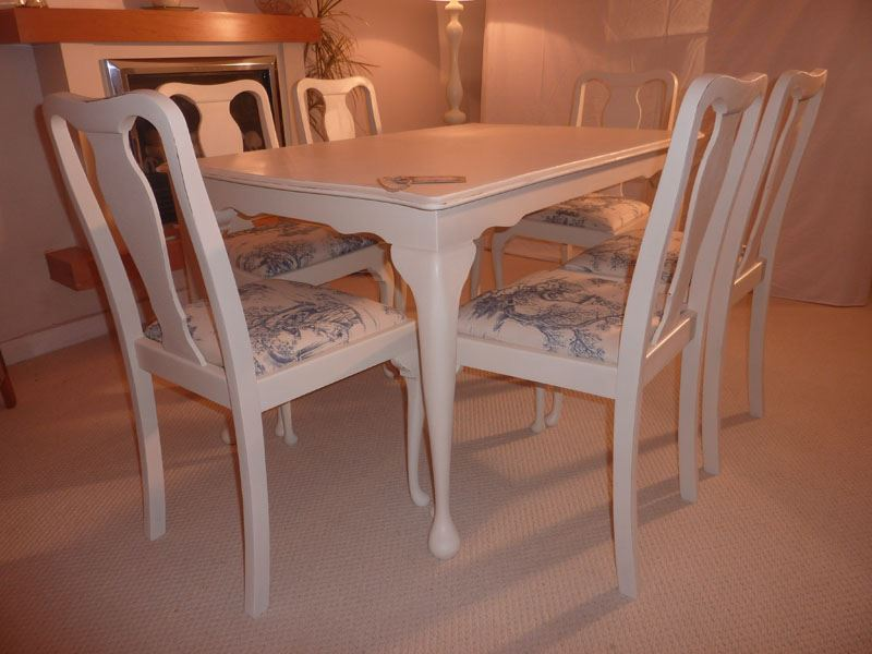 ashley furniture kitchen tables space saver table and chairs shabby chic extendable dining with 6 chairs-painted ...