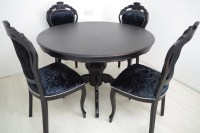 Louis French Style Round Pedestal Table + 4 Chairs in ...