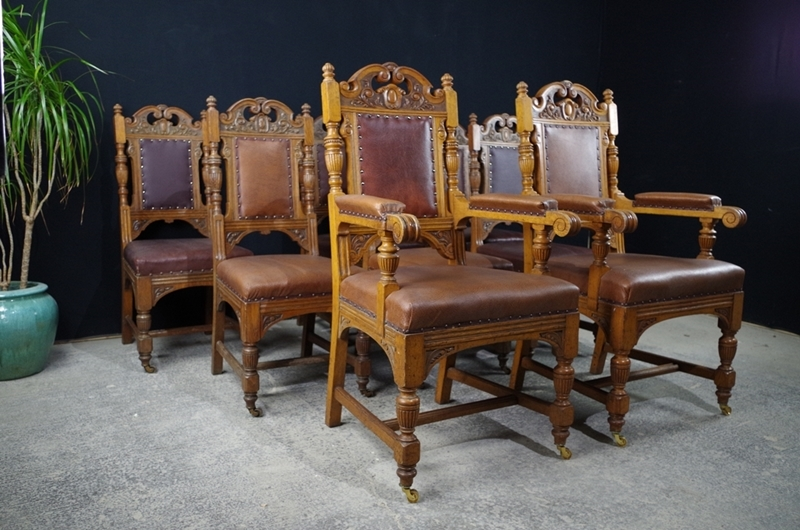 vintage wooden dining chairs swing chair with canopy antique carved oak c1890 painted picture of