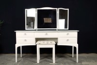 Compact Stag Minstrel Dressing Table with Stool-Painted ...
