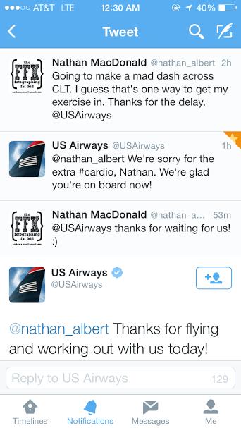 US Airways Workout