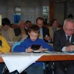 Der Vater mit den Söhnen auf dem Parteitag der FDP