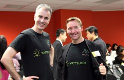 Wattblock's Ross McIntyre (left) and Brent Clark