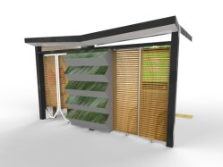 Rear impression of the Wick Planter bus shelter