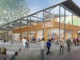 Brickworks shopping centre illustration concept