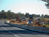 Construction work beside Hume highway