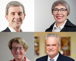 Clockwise from top-left: Tony Wood, Grattan Institute; Chloe Munro, AEMO; David Singleton, ISCA; and Meg Lees.