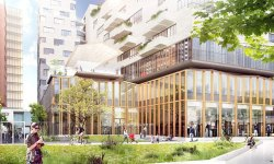 The design for Paris Rive Gauche incorporates a mix of uses and access to green spaces. Image: Paris Rive Gauche/SOA Architects