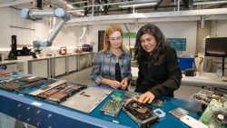 Official launch of the UNSW E-waste Microfactory, by The Hon Gabrielle Upton MP, Minister for the Environment NSW, and Prof Veena Sahajwalla; image: Quentin Jones.