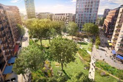 Final artist impression of Elephant Park