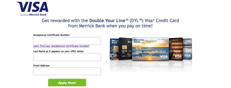 Merrick Bank Double Your Line