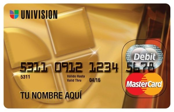 Univision MasterCard Prepaid Card
