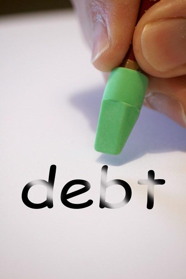Three Steps To A Debt-Free Life - erasing debt image