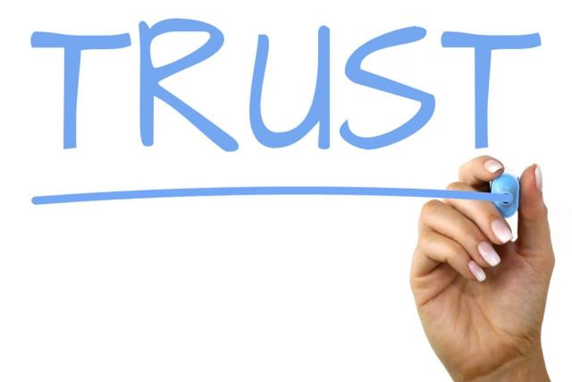 Build Trust in Your Brand for Business Success - handwritten font trust image