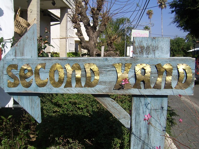 The Benefits Of Buying Second Hand - rustic handmade second hand sign